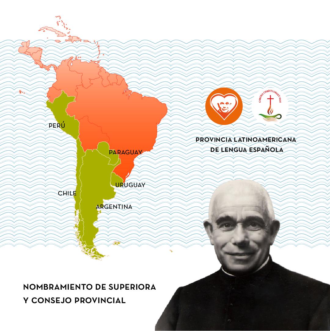 Se nombra a Superiora Provincial y Consejo de la nueva Provincia Latinoamericana