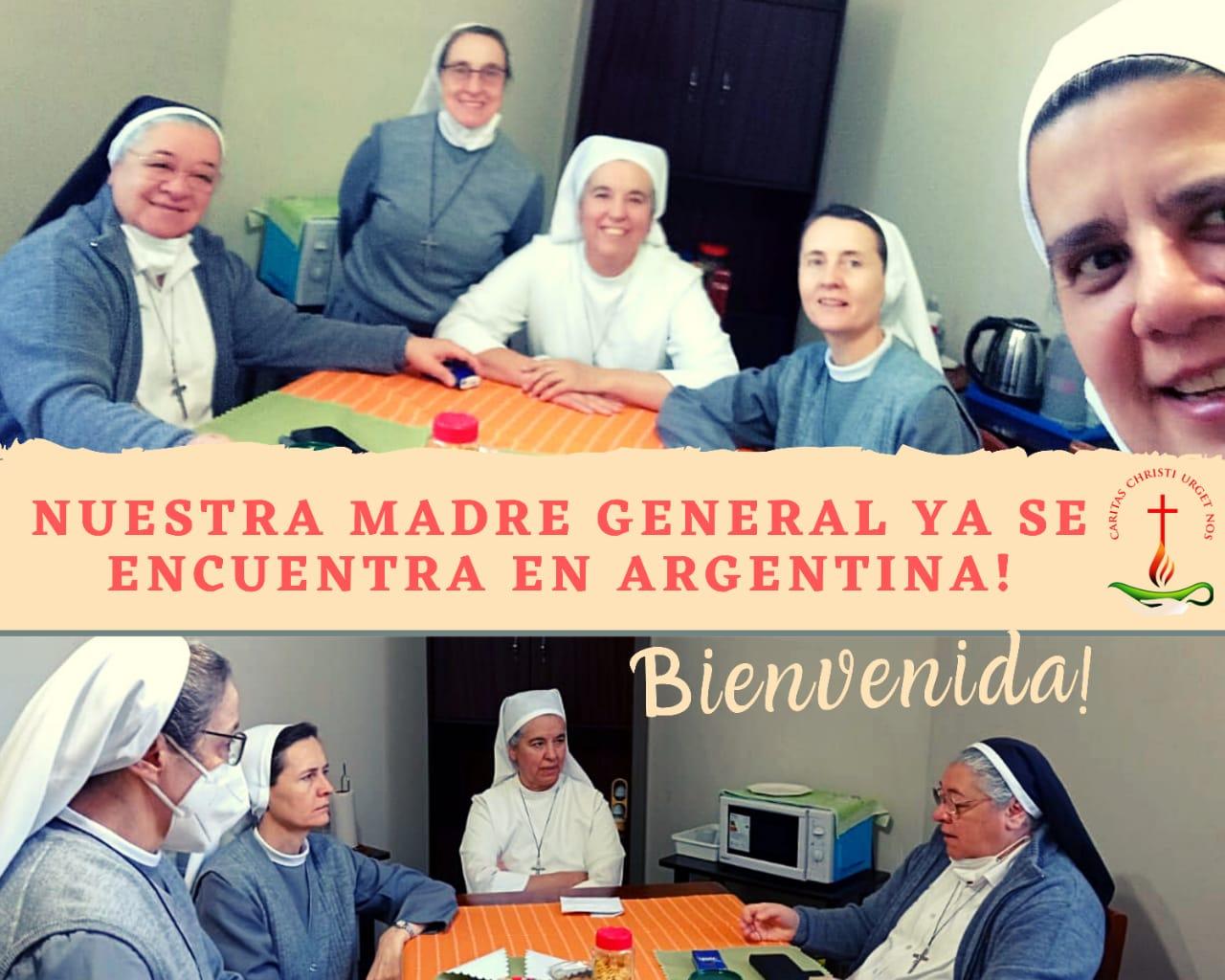 Madre Ma. Mabel llegó a Argentina