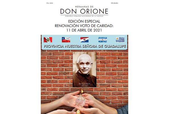 Edición especial de nuestra Revista: Renovación Voto de Caridad, 11 de abril de 2021